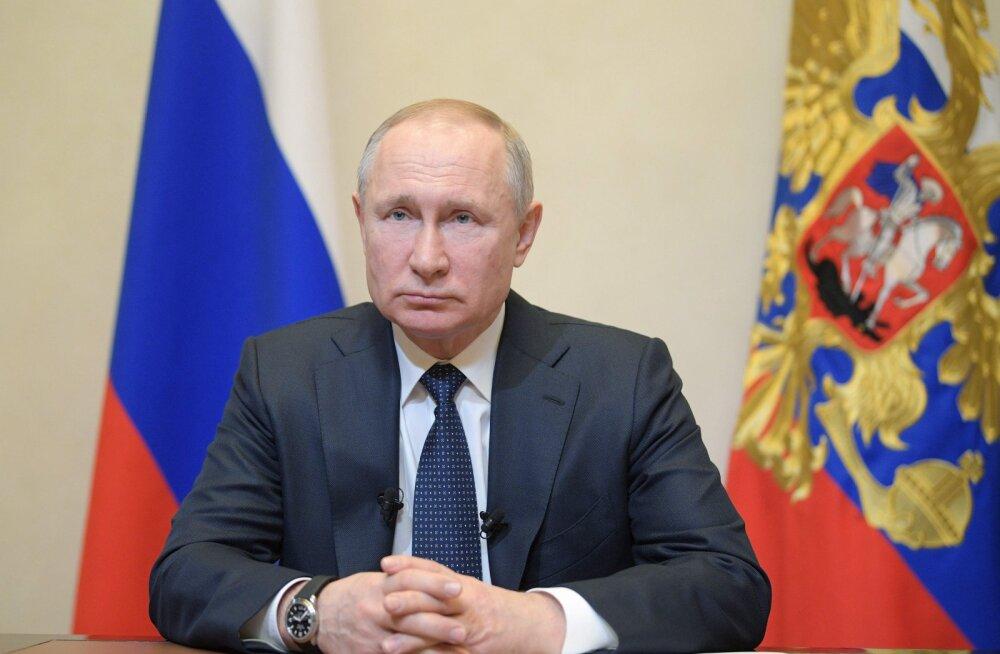 Putin kuulutas järgmise nädala Venemaal töövabaks ja lükkas edasi konstitutsiooniparanduste rahvahääletuse