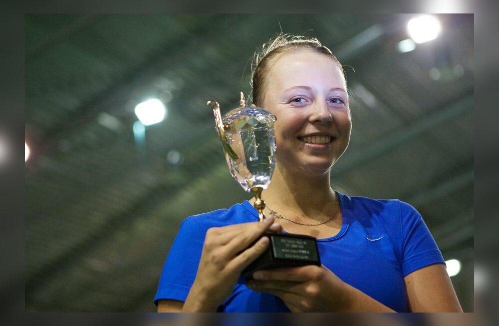 Теннис: Анетт Контавейт стала победительницей турнира SEB Tallink Open