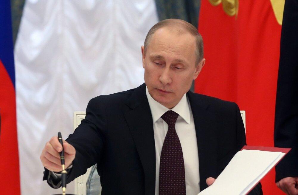 Putini sulepea, millega ta allkirjastas Krimmi Venemaaga ühendamise lepingu, sai muuseumieksponaadiks