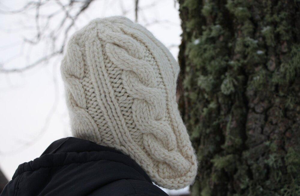 172a10088e0 Kes on vilunud kuduja, võib mütsi teha palmikutega.