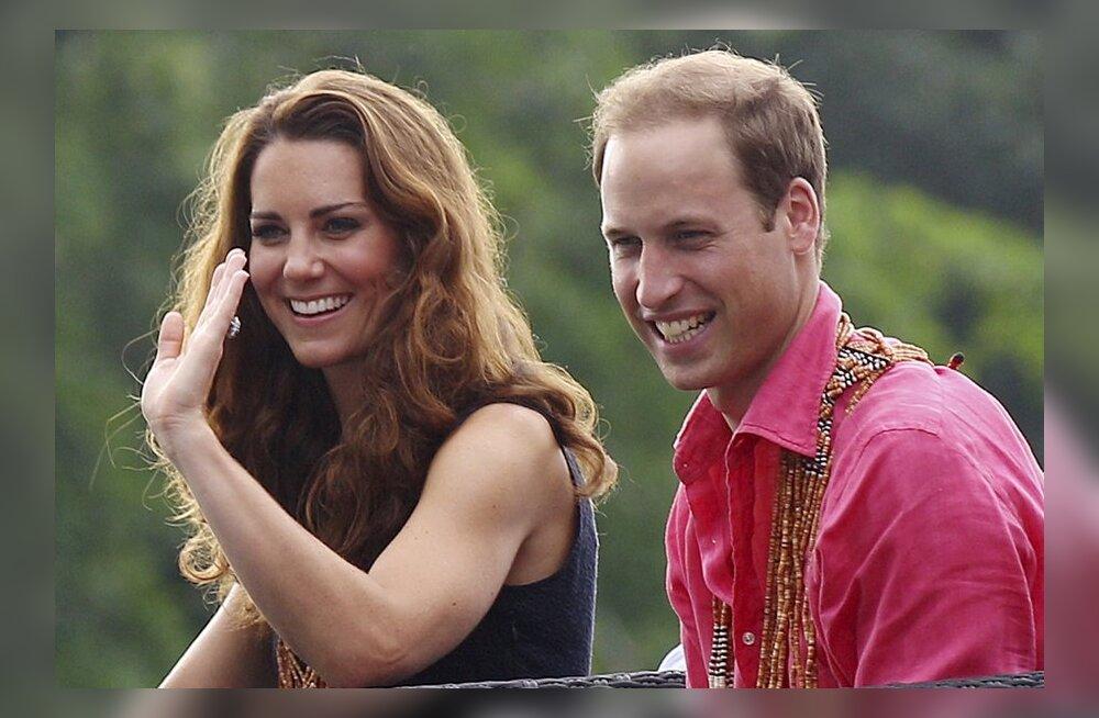 Prints William oma naise Kate`iga