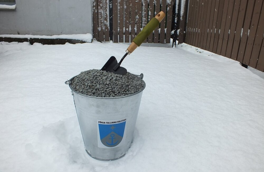 В Пыхья-Таллинне организуют дополнительную раздачу гранитной крошки