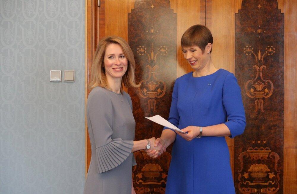 President Kersti Kaljulaid tegi Kaja Kallasest ametliku peaministrikandidaadi