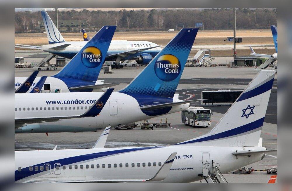 Frankfurdi lennujaam tühistas lumesaju tõttu 150 lendu