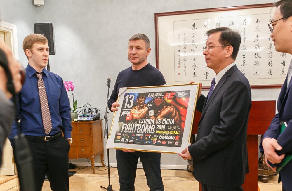 Duel Fighti võitlejad käisid Hiina suursaadiku vastuvõtul