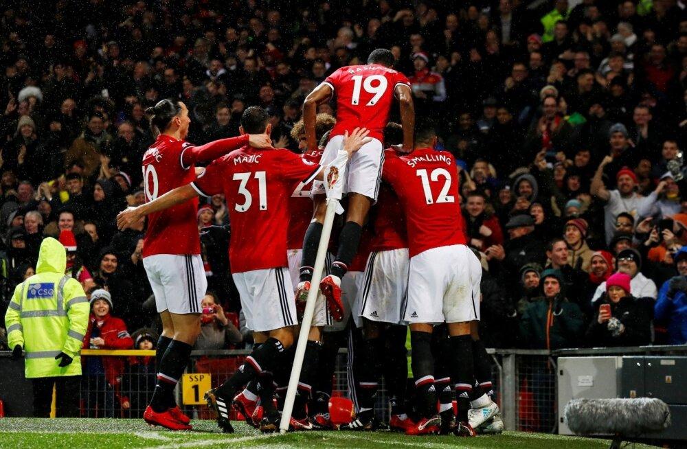 Inglismaa kõrgliigas makstakse kõige suuremat keskmist palka Manchester Unitedis.