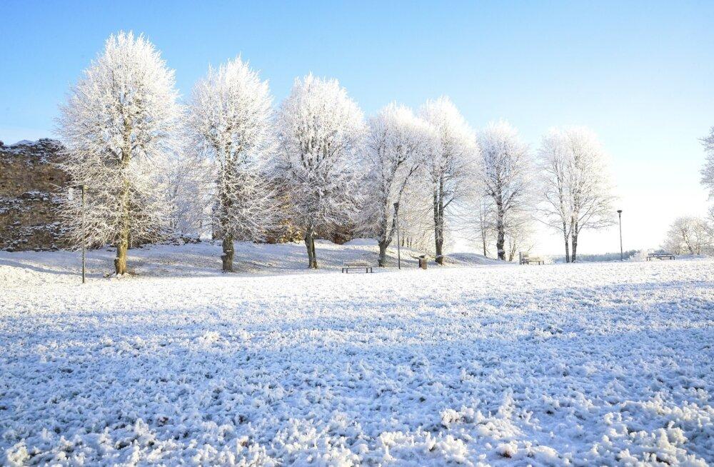 Ilus talveilm Viljandi lossimägedes