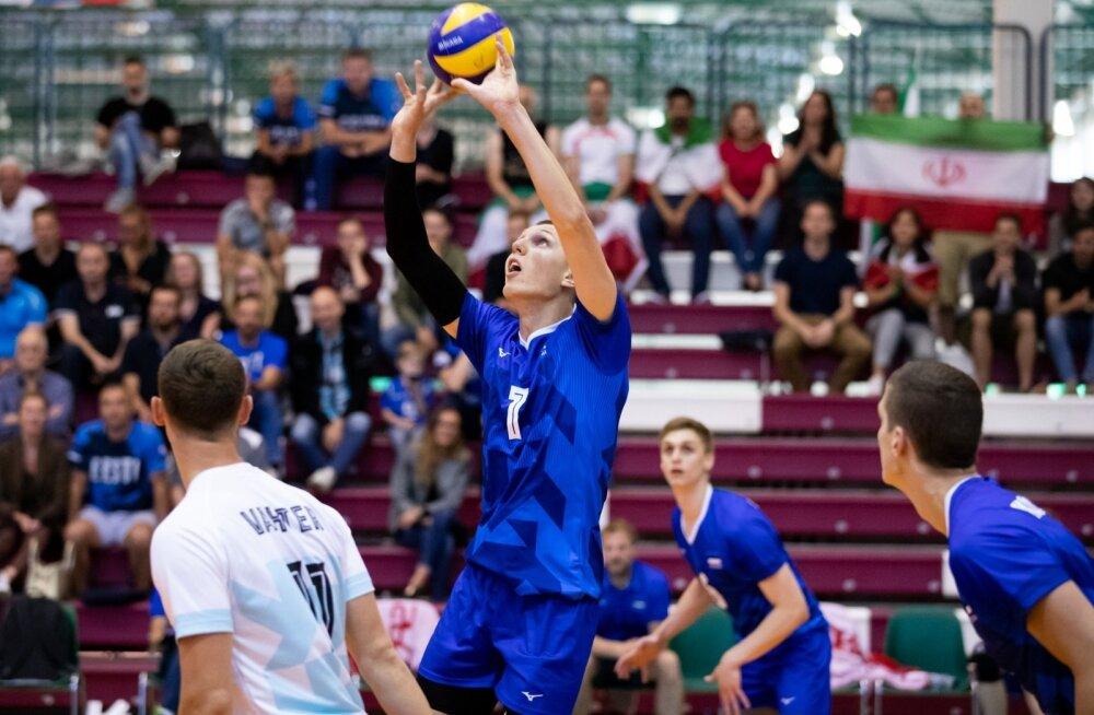 Võrkpalli B-koondised. Eesti vs Iraan, Robert Viiber