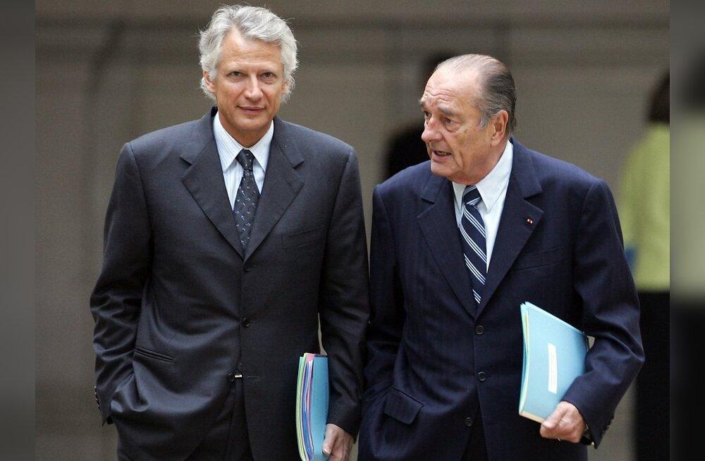 Advokaat: Chirac ja Villepin said Aafrika juhtidelt 20 miljonit dollarit