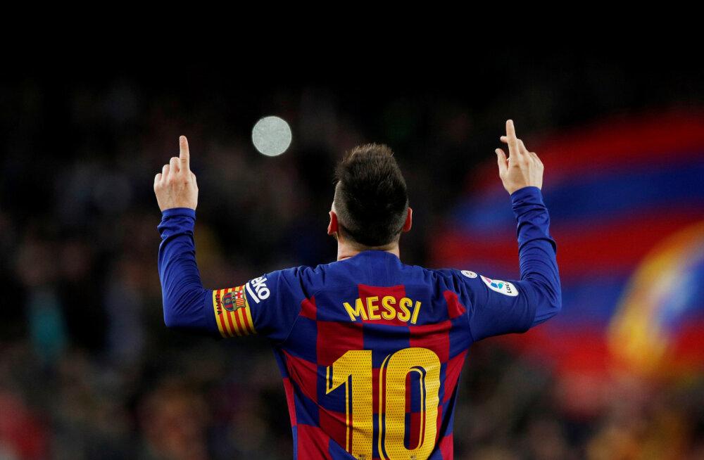 Messi säras kübaratrikiga, Barcelona ja Real jagavad liidrikohta
