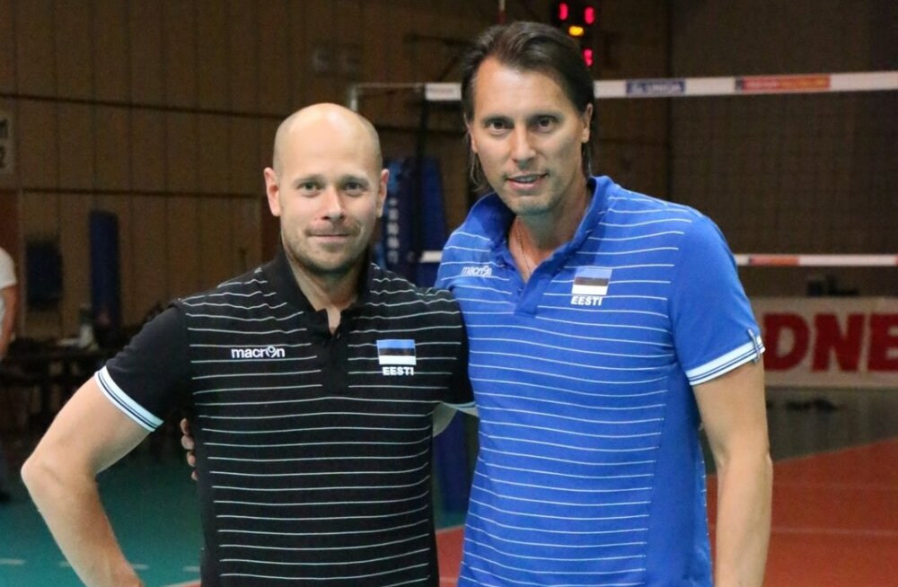 Võrkpallitreenerite tandem Alar Rikberg ja Gheorghe Cretu