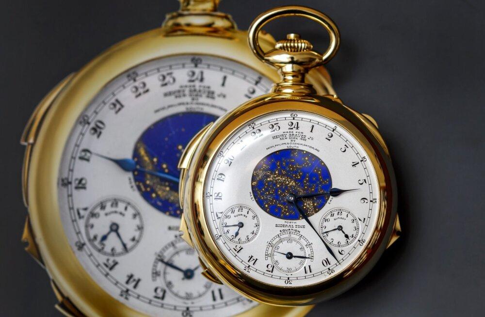 10 kõige kallimat kella, mis kuulus oksjonimaja Christie's sel aastal müünud on