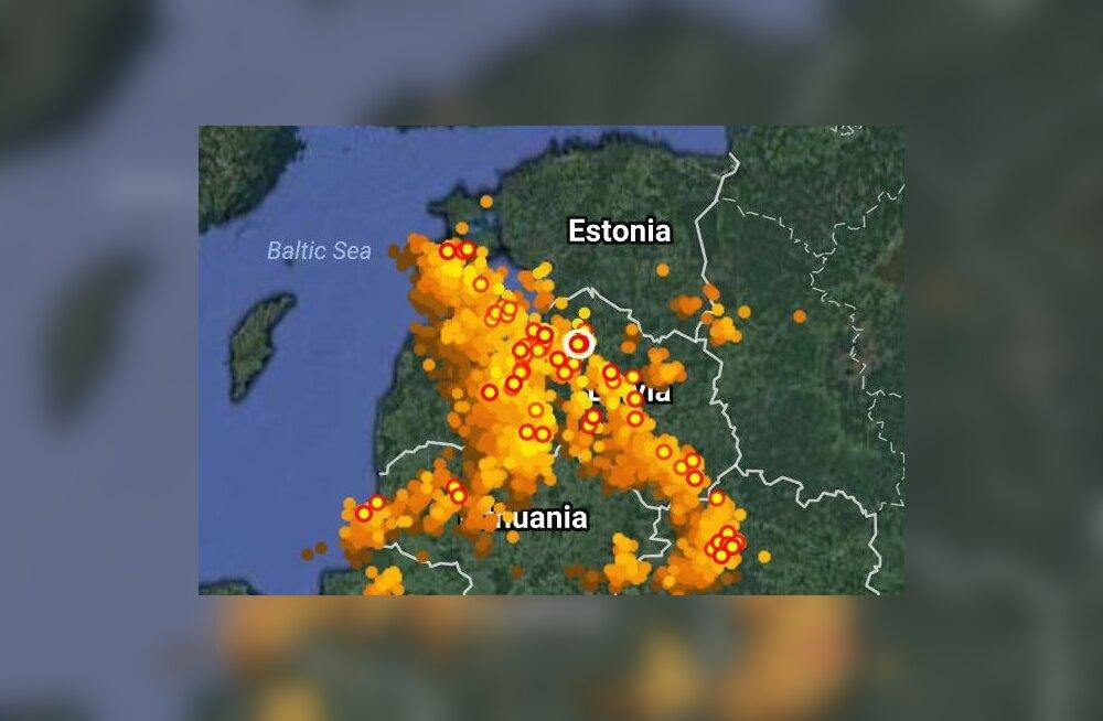 VIDEO | Eestist käis üle äike, kuid erilist ilmamuutust see ei too – jahedad sajuhood jätkuvad