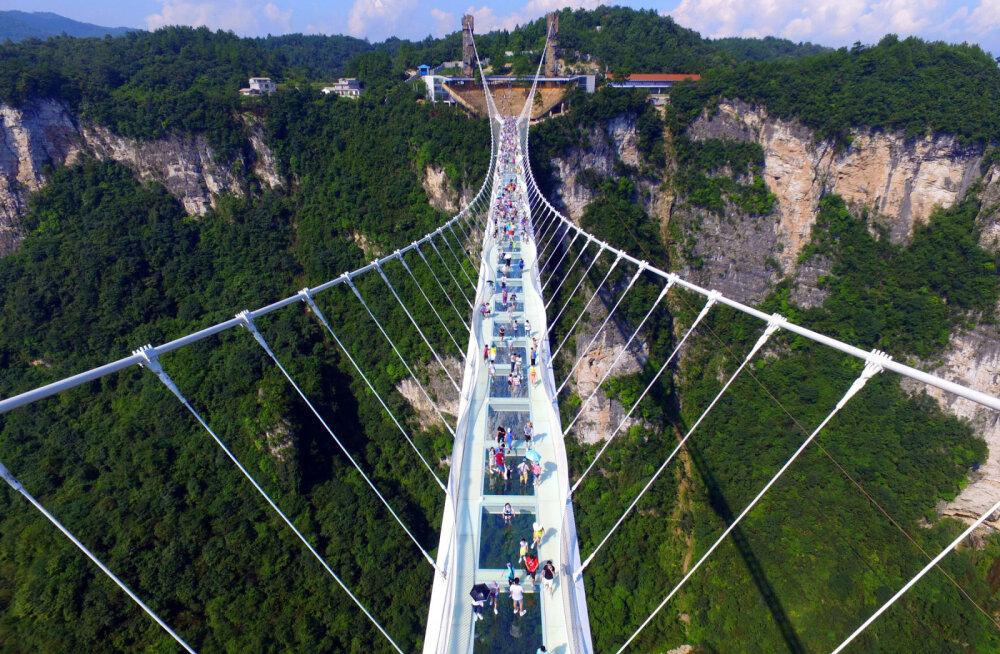 В Китае массово закрывают стеклянные мосты. Оказалось, что они опасны для туристов