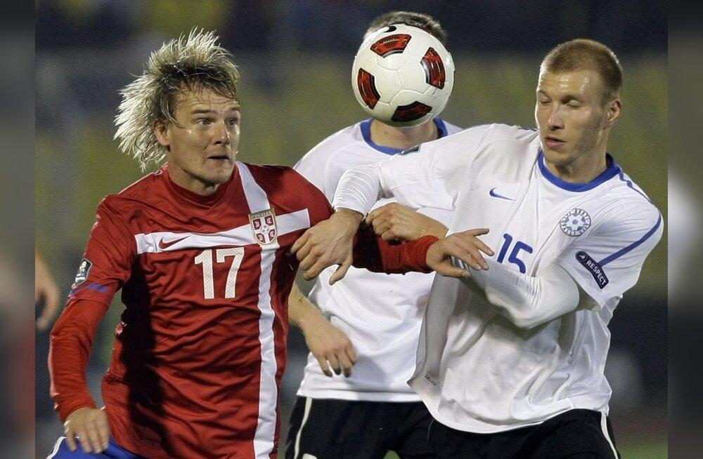 Eesti jalgpallikoondis peab sõprusmängu Hiinaga