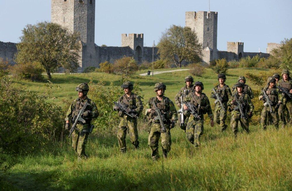 Rootsi kaitseväelased Gotlandil