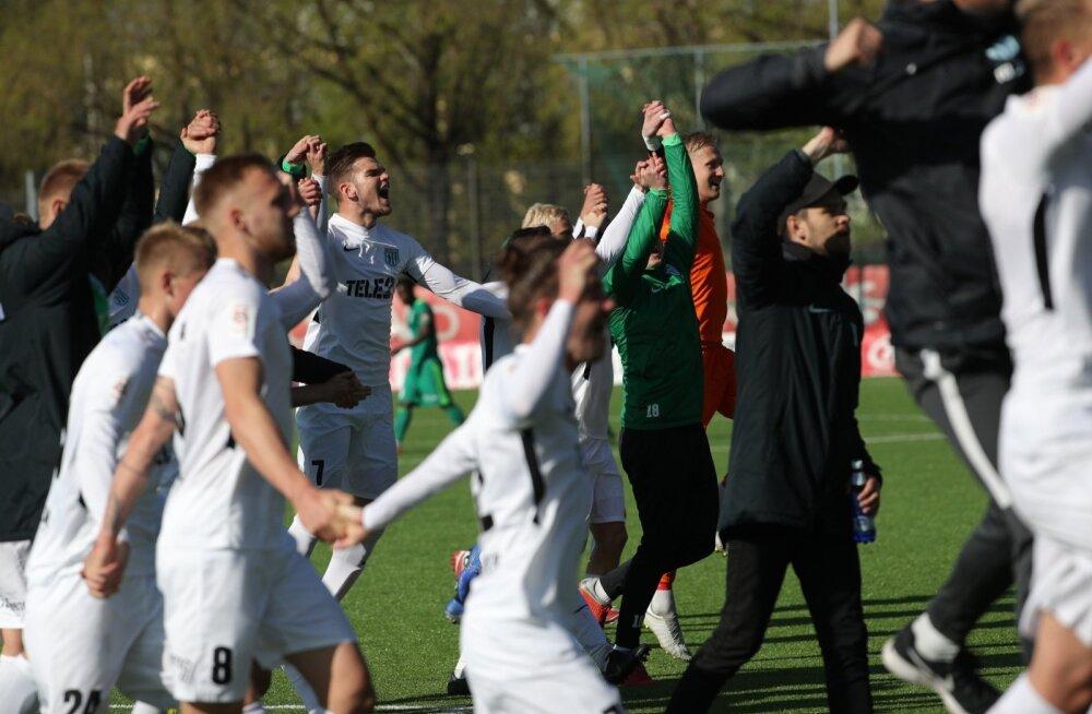FC Flora andis kuuma ning lõi Tallinna Kalevile kuus vastuseta väravat