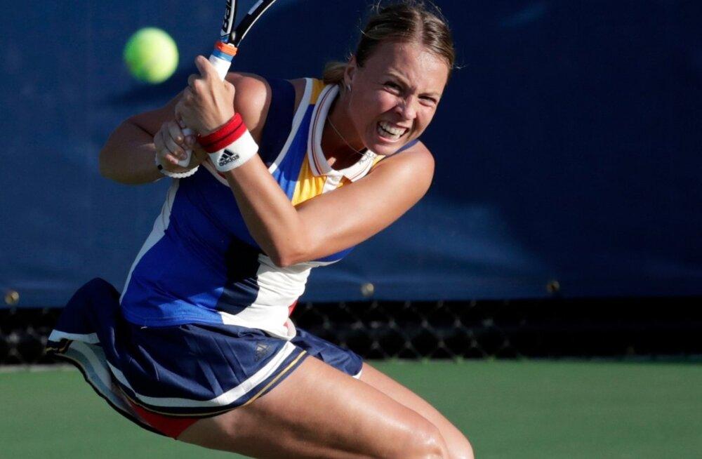 Anett Kontaveit US Openi avaringi kohtumises Lucie Safarova vastu.