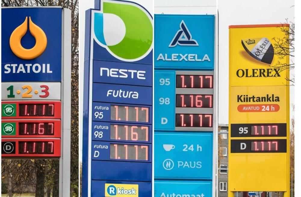 aae88ac142e Teisipäeval pildistatud Tallinna mehitatud ja automaattanklate tabloodel  valitseb üksmeel.