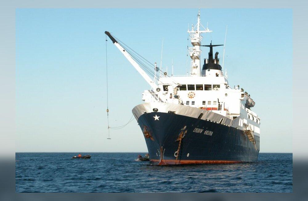 Kuidas leida ookeanile kaotatud inimtühja Vene kruiisilaeva, millel nimeks Ljubov Orlova?