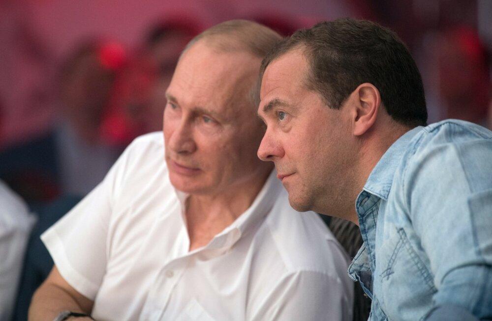 """Putini """"järeltulijate"""" edetabelit juhib Medvedev, Vaino on esikümnes"""