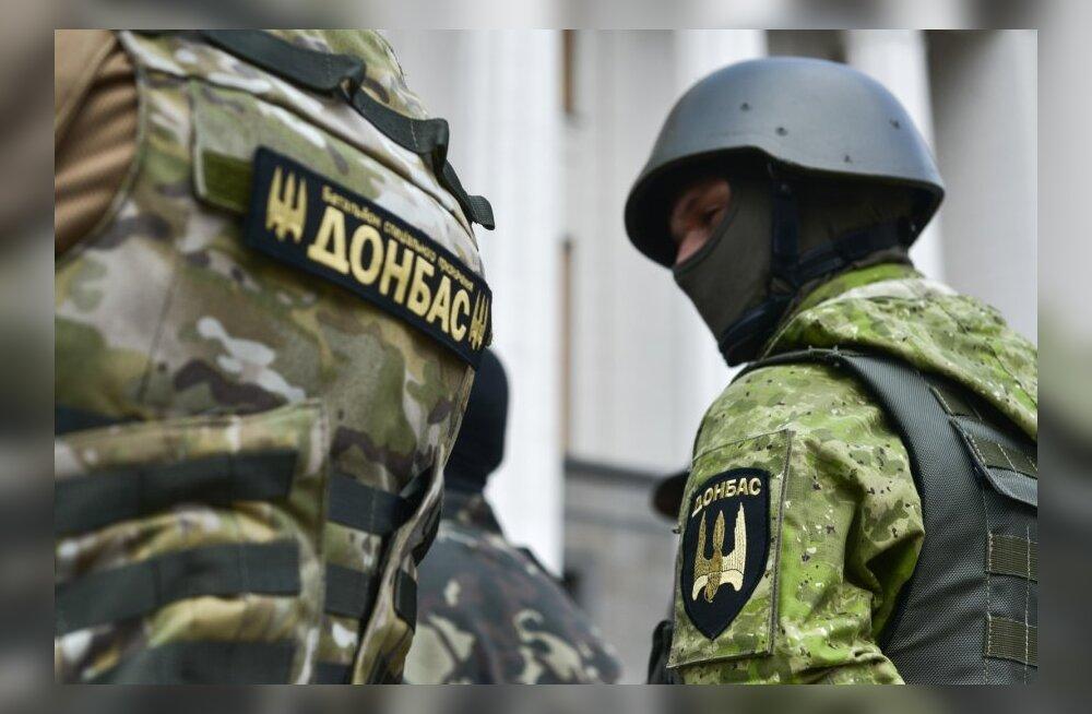 """Бойцы батальона """"Донбасс"""" в Киеве."""