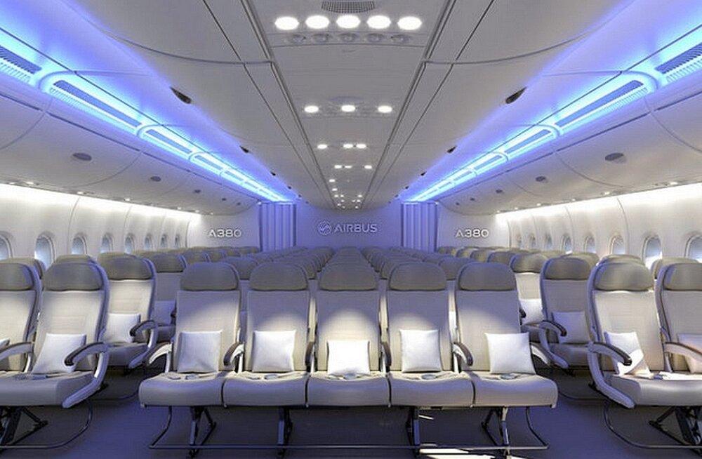 Kellele rõõm, kellele õnnetus: Airbus suutis mahutada lennukis 11 istet ühte ritta