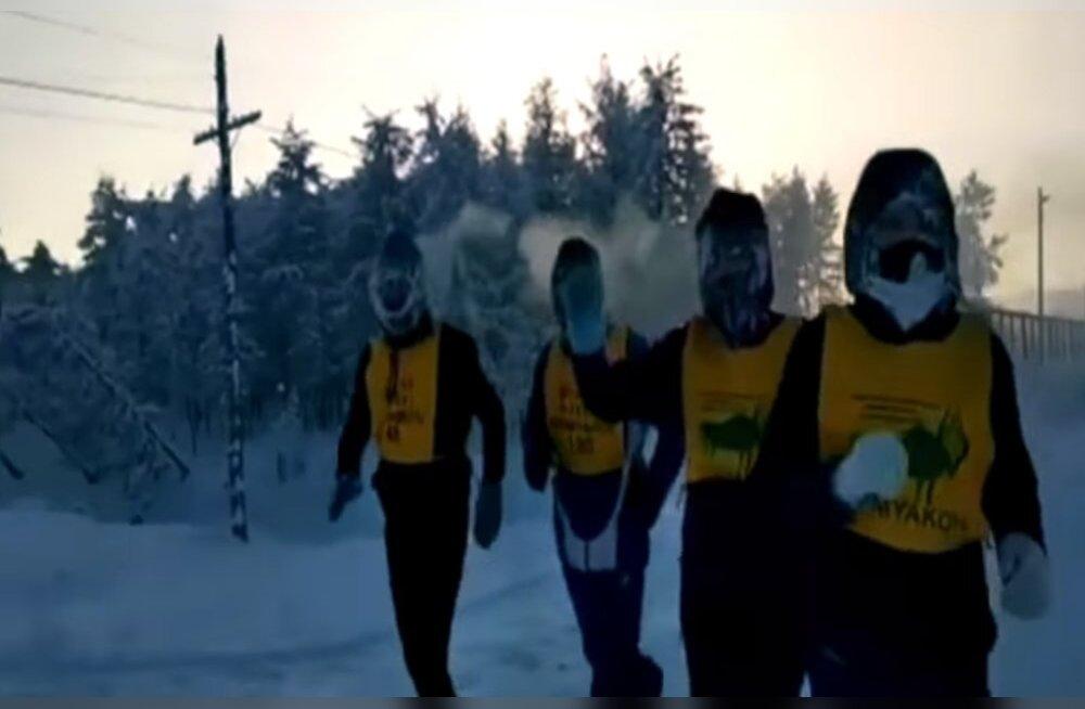 VIDEO | Siberis korraldati maailma kõige külmem maraton. 52 miinuskraadiga stardi saanud võistlusel ei jõudnud ükski osaleja finišisse