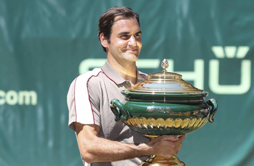 Roger Federer triumfeeris Halle turniiril kümnendat korda