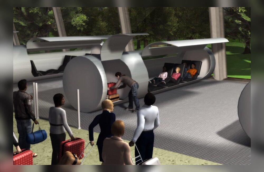 Poole tunniga Tallinnast Riiga: tunneltorudel põhinev tulevikurong liigub 600 km/h