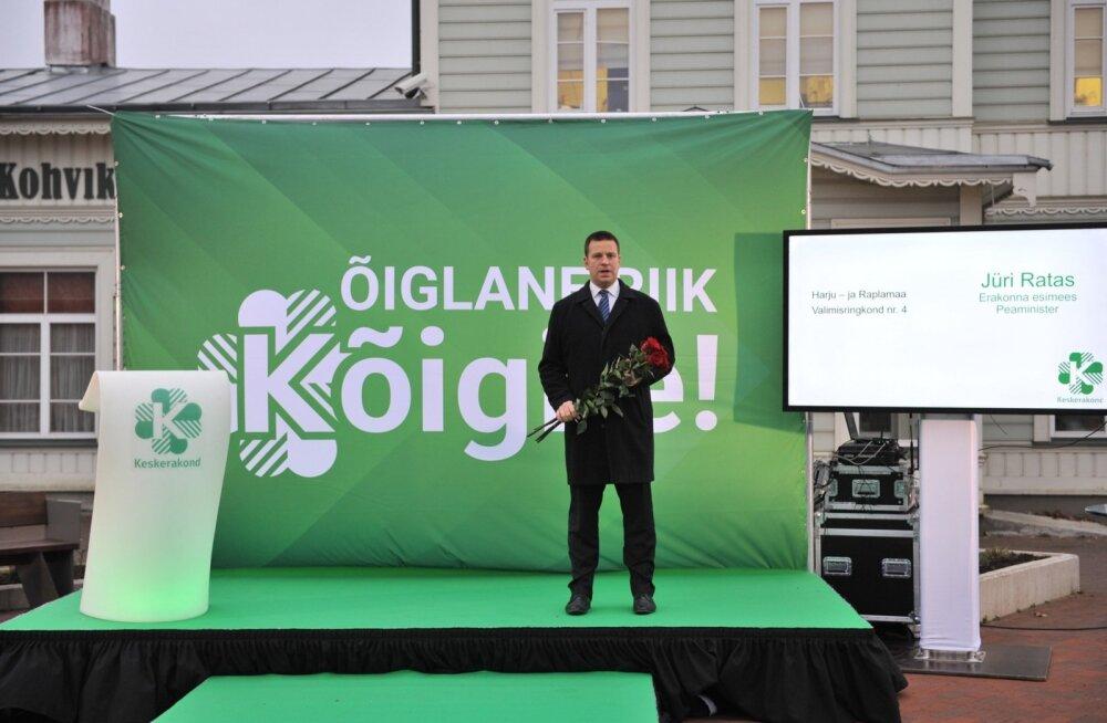 Jüri Ratas kandideerib Harju- ja Raplamaa valimisringkonnas