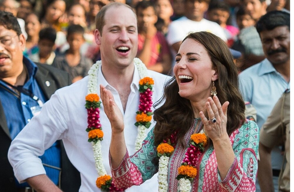 Kate ja William Indias