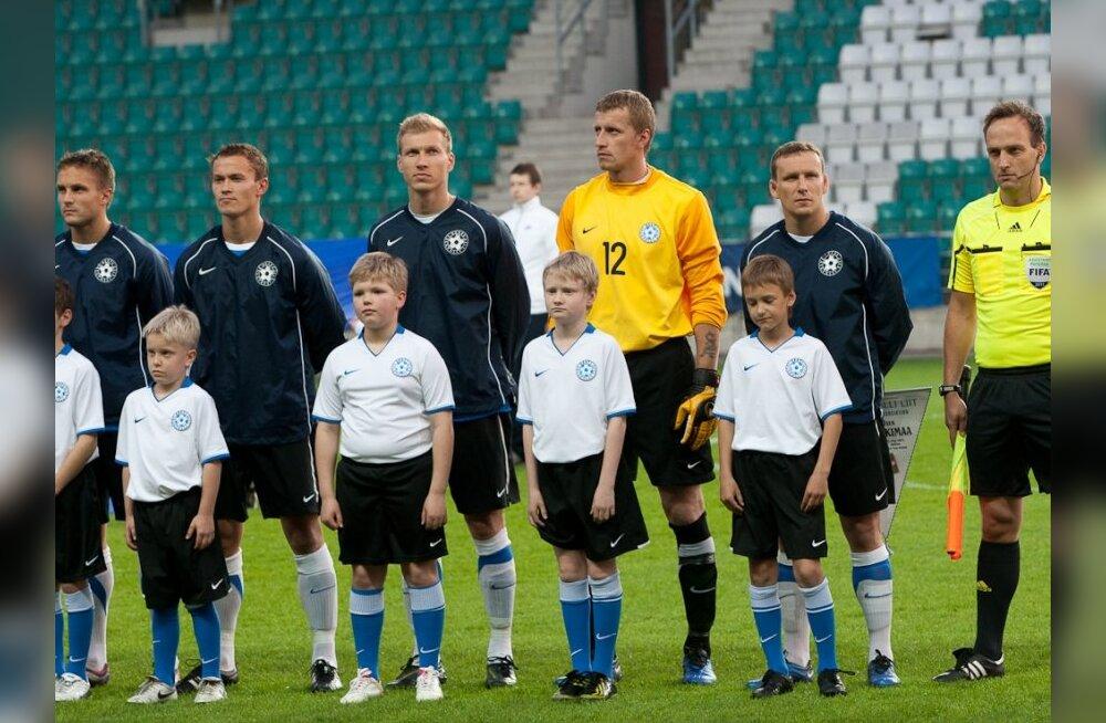 Eesti jalgpallikoondise liikmed mängu eel
