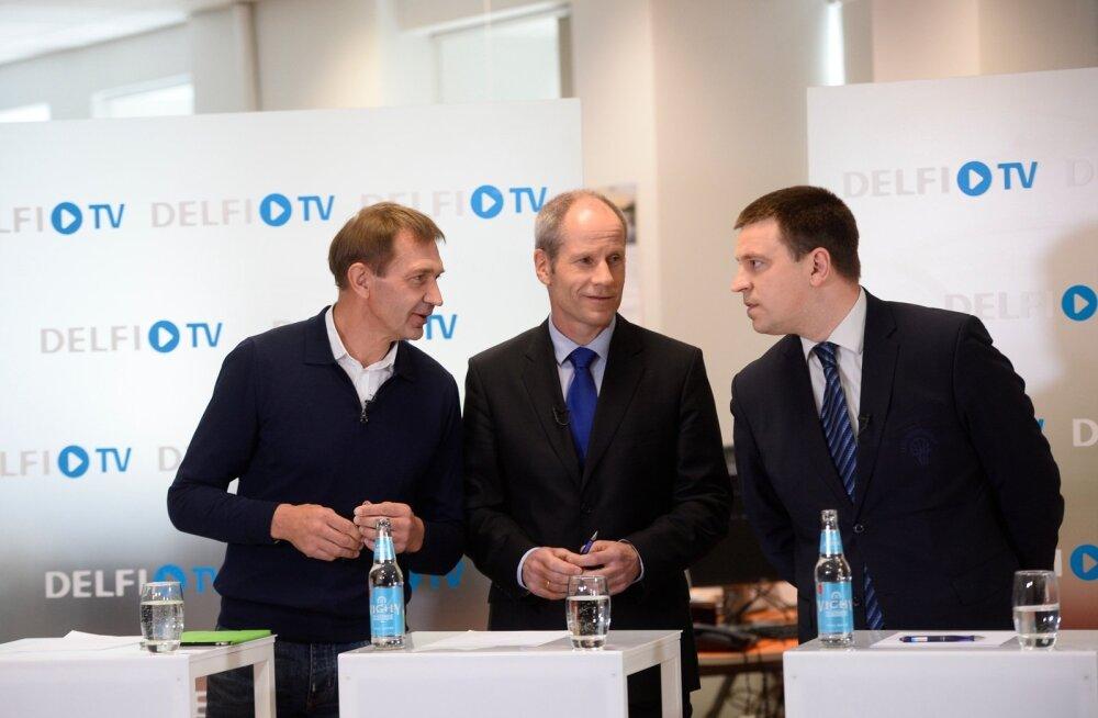 Homme selgub, kes kolmest: kas Urmas Sõõrumaa (vasakul), Tõnu Tõniste või Jüri Ratas?