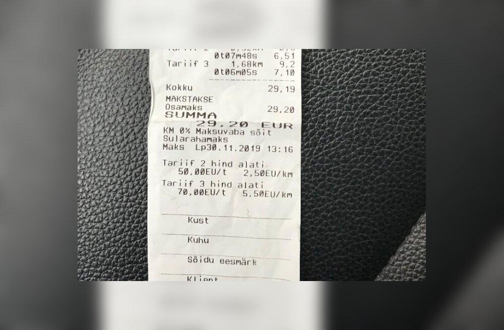 Беспредел в Таллинне: поездка на такси в пару километров обошлась финну в 30 евро