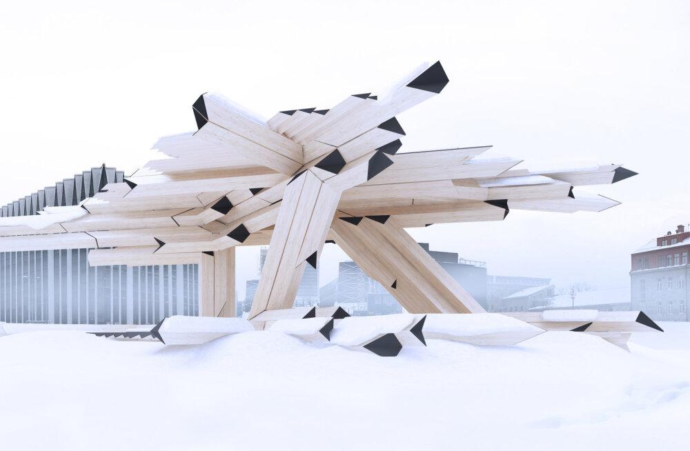 Tallinnasse kerkib uus puidust installatsioon