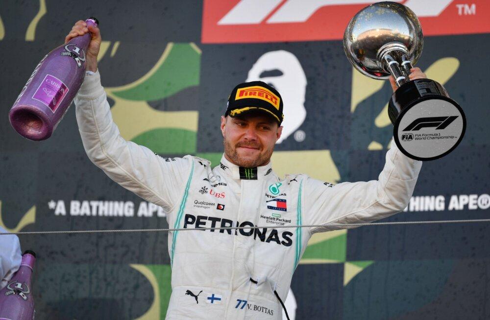 BLOGI | Valtteri Bottas võitis Jaapani GP, Mercedes kindlustas neli etappi enne hooaja lõppu konstruktorite karika
