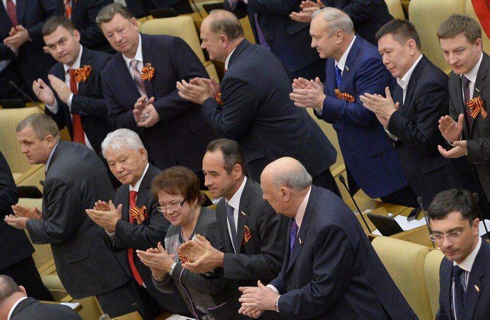 Uudis Trumpi USA presidendiks valimise kohta võeti Vene riigiduumas vastu tormilise aplausiga