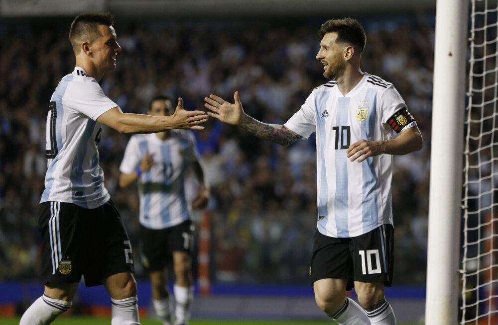 Giovanni Lo Celso ja Lionel Messi