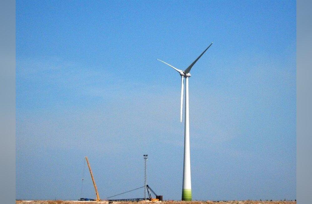 Eesti Energia pani põlevkivi tuhaväljale püsti 17 tuulikut