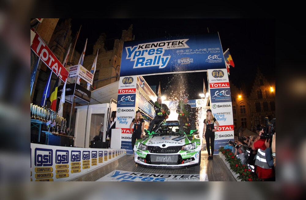ERC sarja Belgia etapil võidutses Freddy Loix