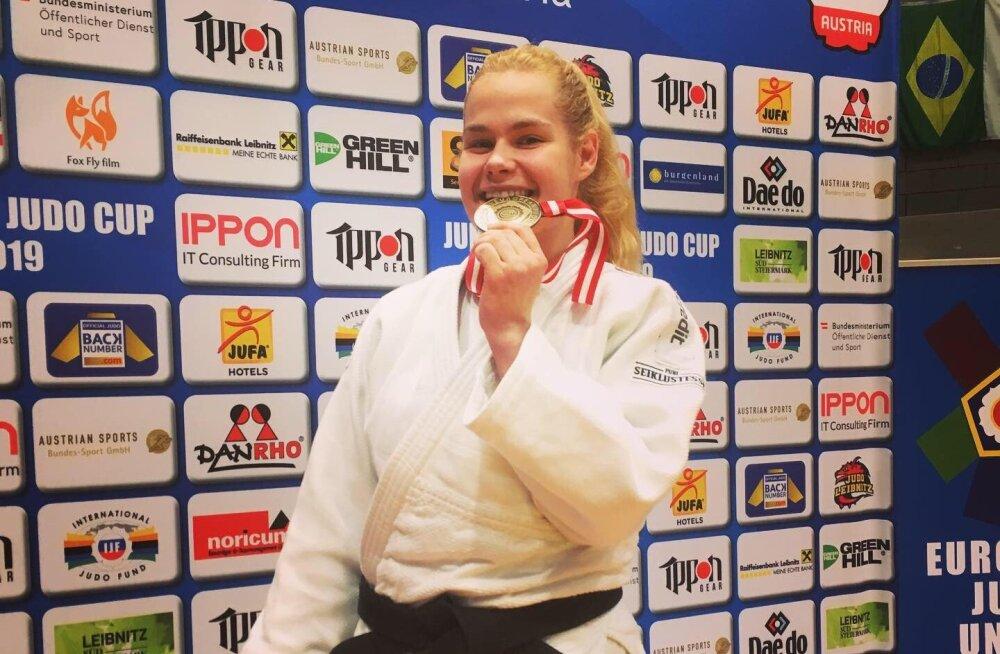 Annika Karilaid jõudis taas judo Euroopa karikaetapil poodiumile