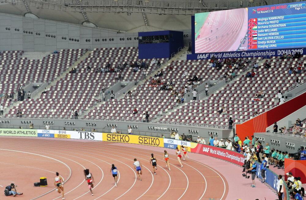Kergejõustiku MM-i korraldajad leidsid publikupuuduse süüdlased: saudiaraablased ja TV-ülekannete kava
