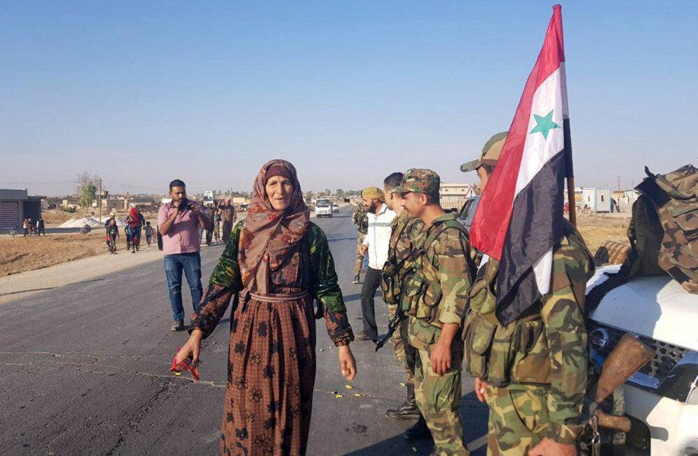 Süüria valitsusväed on hakanud riigi põhjaossa kohale jõudma