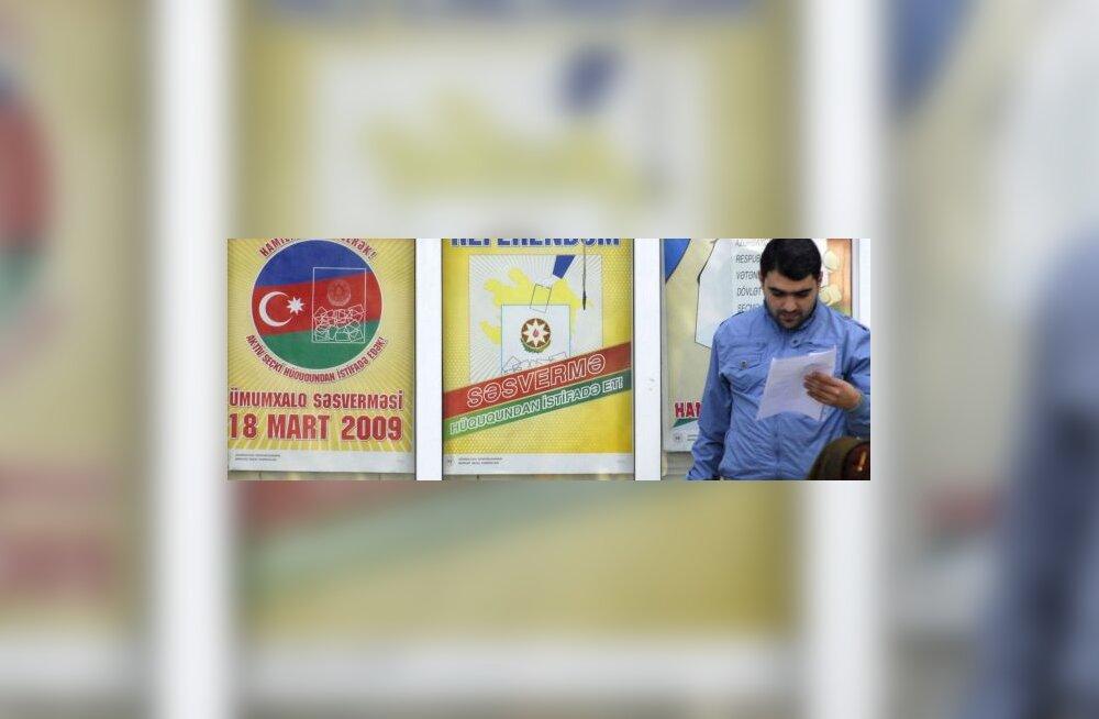 Aserbaidžaan lubab parteide valimiseelseid üritusi