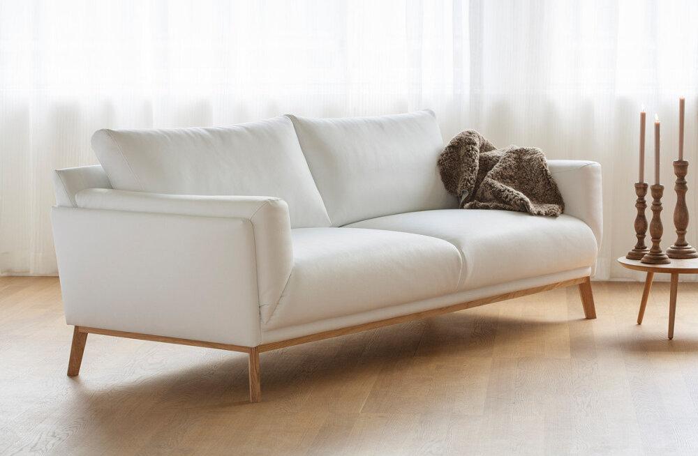 Diivan, mis on lihtne, stiilne ja mugav