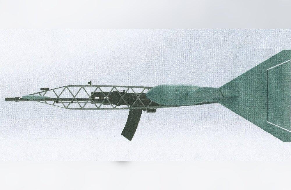 Kurioosum: Vene relvatootja patenteeris kummalise lendava kalašnikovi