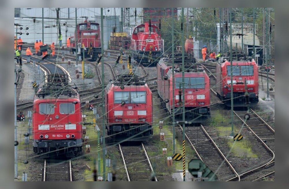 Saksamaa vedurijuhtide streik peatab 2/3 reisirongiliiklusest