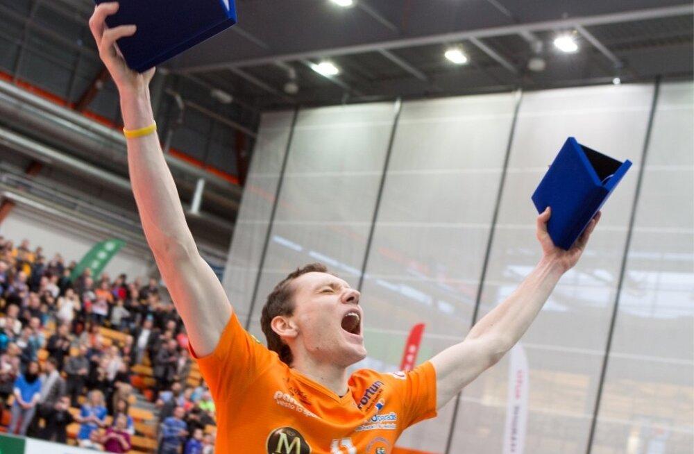 Kahtlusteta parim. Pärnu diagonaalründaja Hindrek Pulk tunnistati Saja liiga kõige kasulikumaks võrkpalluriks.