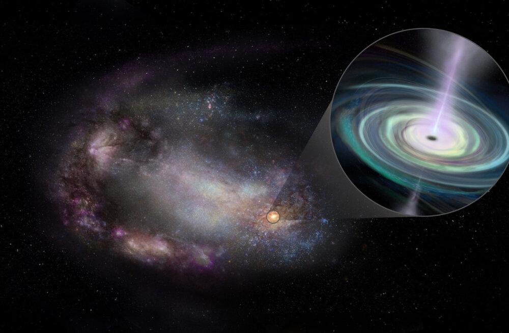 Teadlased leidsid kääbusgalaktikatest ringi uitavad mustad augud